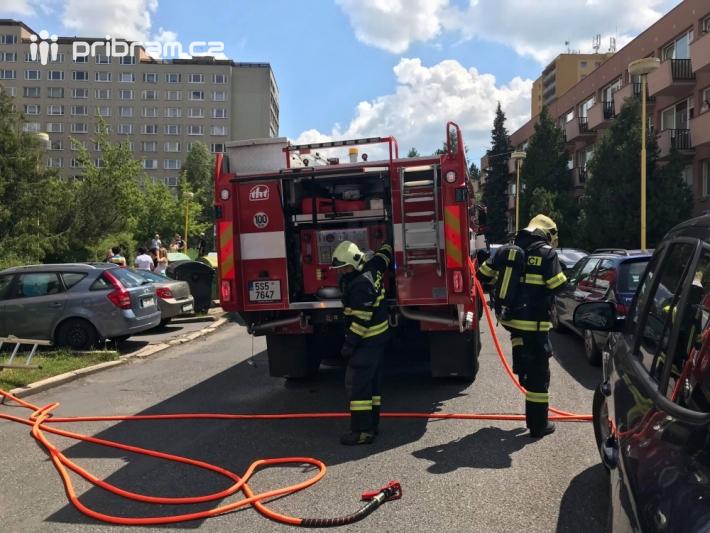 V těchto chvílích zasahují hasiči HZS …