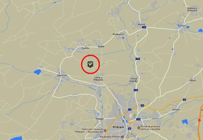 Mapa z webových stránek: Tornáda...a jevy …