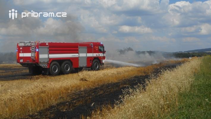 Oheň vzplanul mezi obcemi Horčápsko a Dobrá …