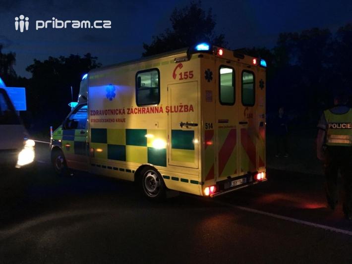 Dopravní nehoda v Nádražní ulici, těsně před …