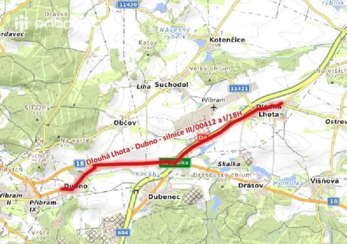 Silnice I/18H a III/00412, Dlouhá Lhota – Dubno