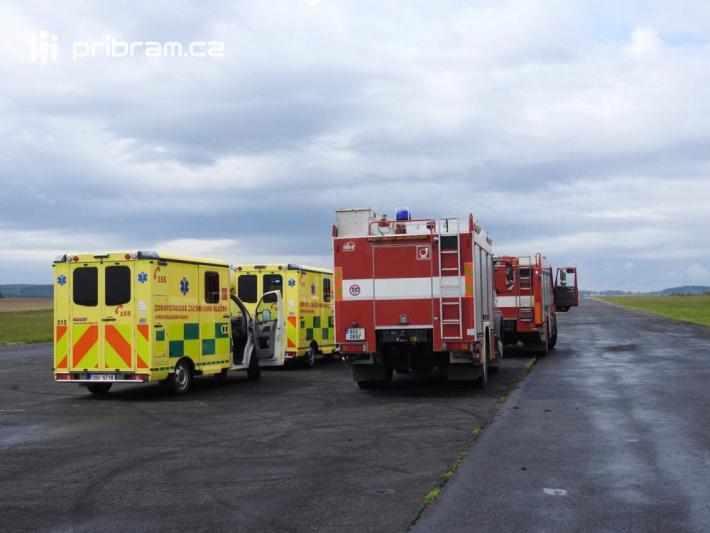 Profesionální jednotka hasičů z Příbrami, za …