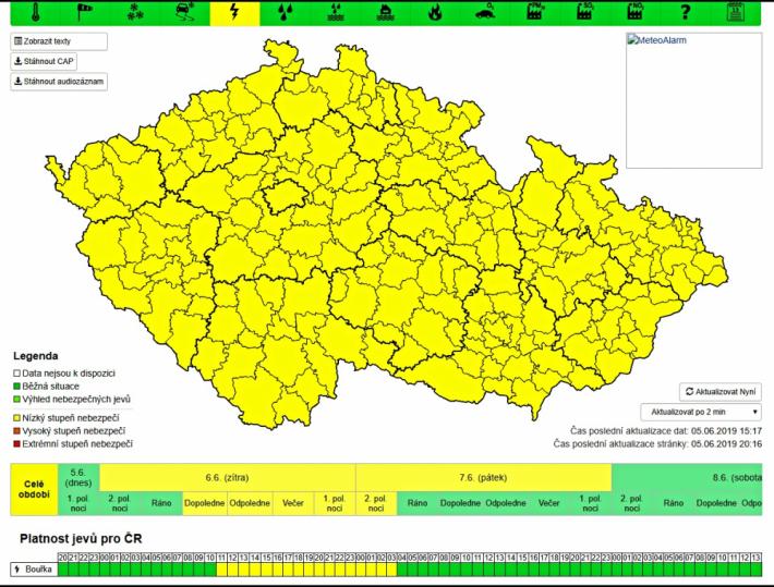Předpověď počasí pro Středočeský kraj na …