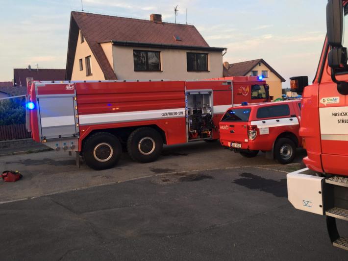 Knahlášenému požáru v domě …