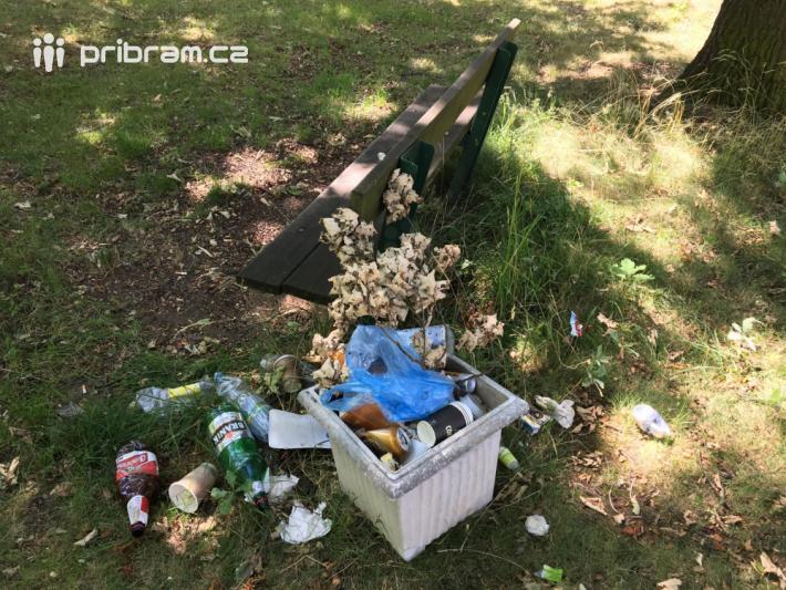 Nedostatek odpadkových košů se dá řešit …
