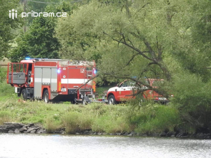 Profesionální hasiči z Příbrami momentálně …