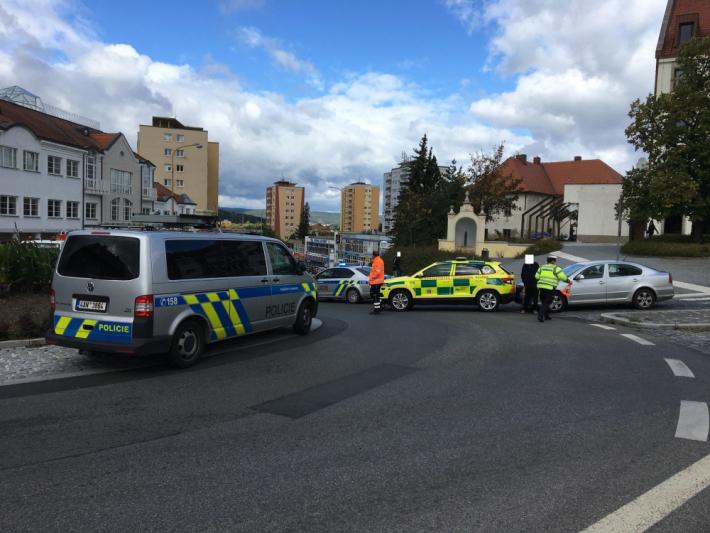 Dopravní kolaps na náměstí TGM v Příbrami …