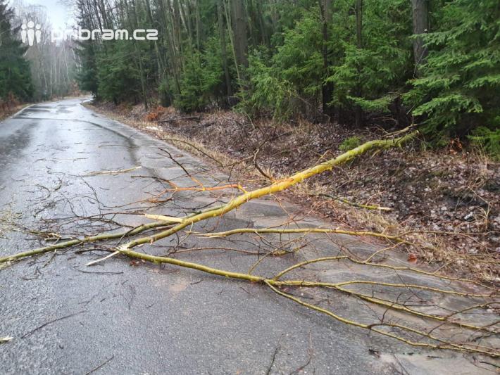 Větve stromů blokují průjezd na silnicích v …