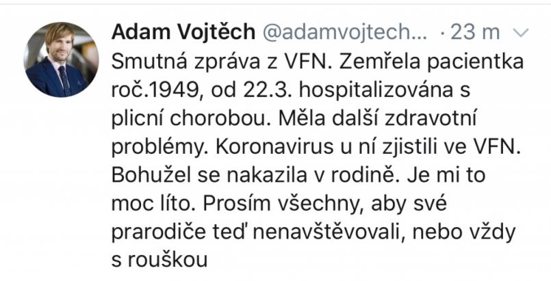 V Česku zemřel třetí pacient nakažený …