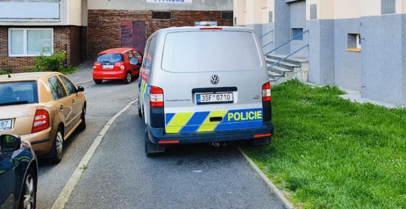 Policisté během příletu a následném odletu …