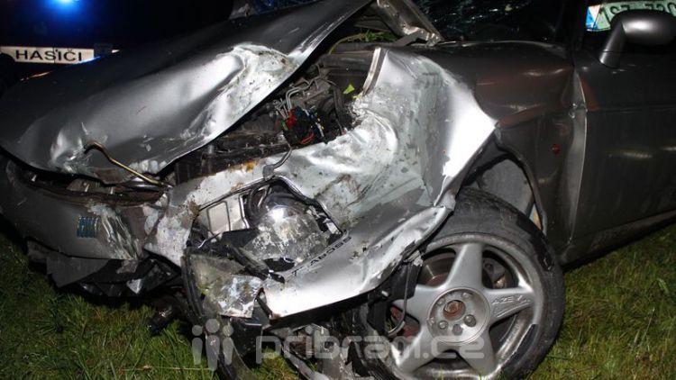 Cestu z Prahy do Příbrami komplikovala nehoda