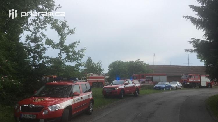 Aktuálně: Požár rodinného domu zaměstnává tři jednotky hasičů