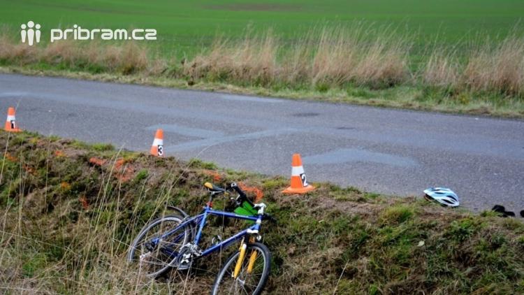 Čtyři cyklisté byli v jeden den účastníky dopravních nehod na Příbramsku