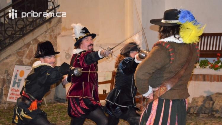 V březnickém zámku se šlechtici utkali o krásnou paní z Monsoreau