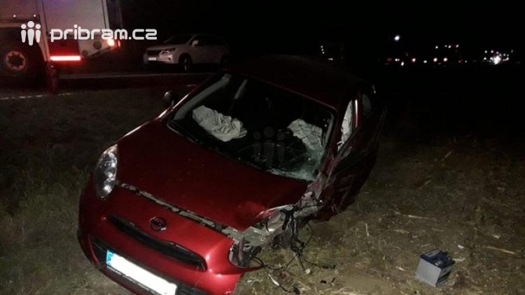 Strakonická je uzavřena v obou směrech, došlo k dopravní nehodě u Vrančic