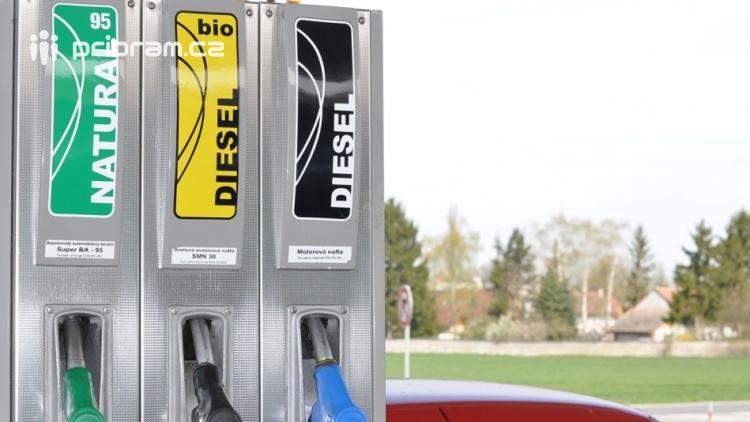 Pohonné hmoty ve středních Čechách opět zlevnily