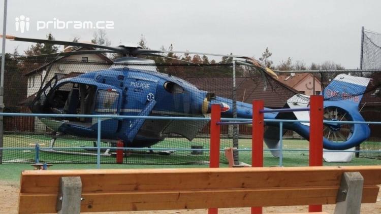 Výši škody na havarovaném policejním vrtulníku se nedaří určit
