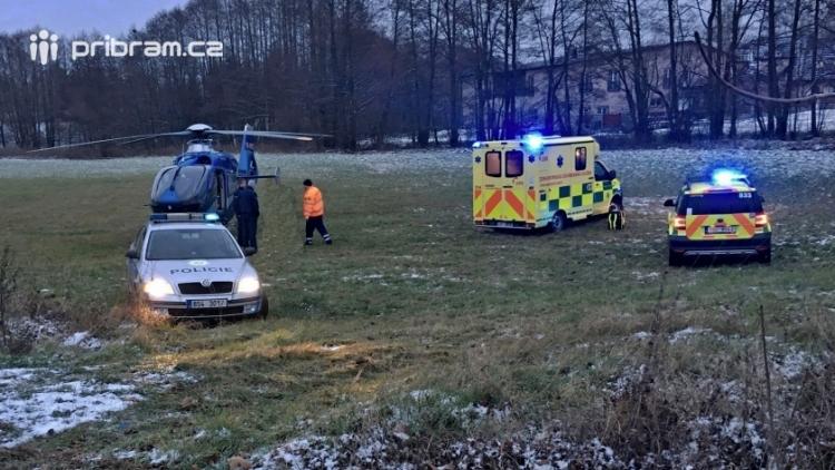Dnes ráno srazil řidič chodkyni a ujel. Ta byla v kritickém stavu letecky transportována do nemocnice!