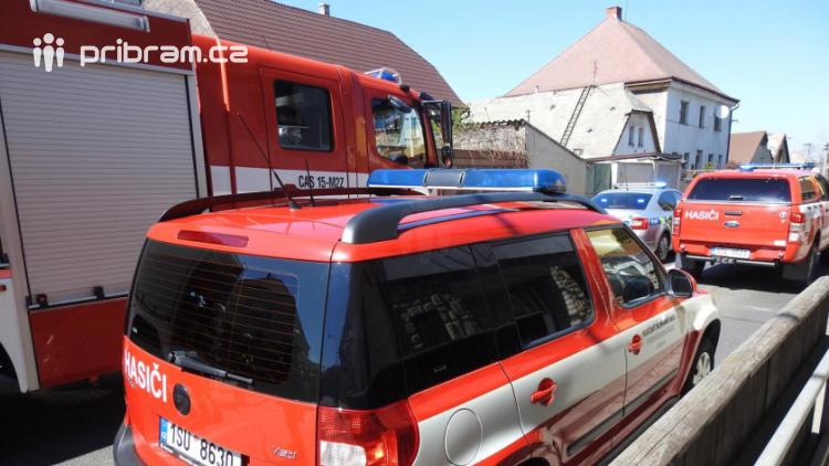 K nahlášenému požáru vyjížděli hasiči na Březové hory