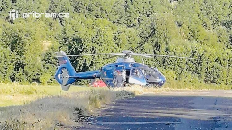 Vrtulník přepravil zraněné dítě předškolního věku do nemocnice