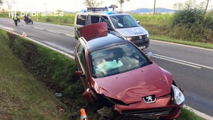 Řidička peugeotu se lekla psa, strhla řízení a zdemolovala auto