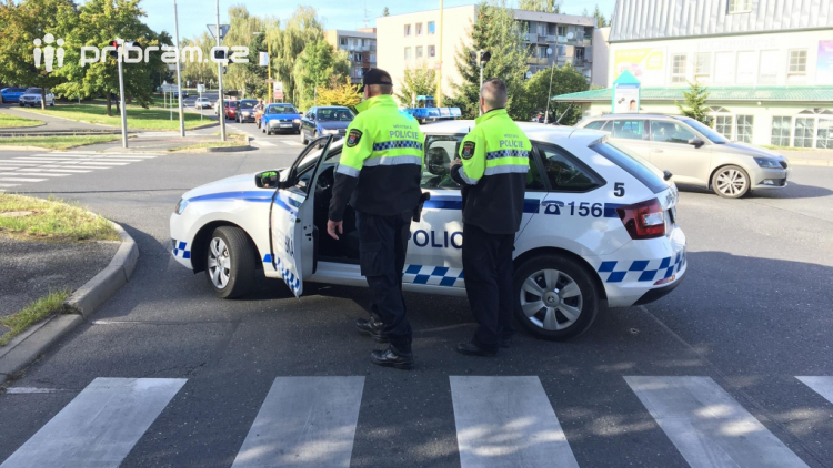 Při dopravní nehodě v Příbrami došlo ke zranění dvou osob