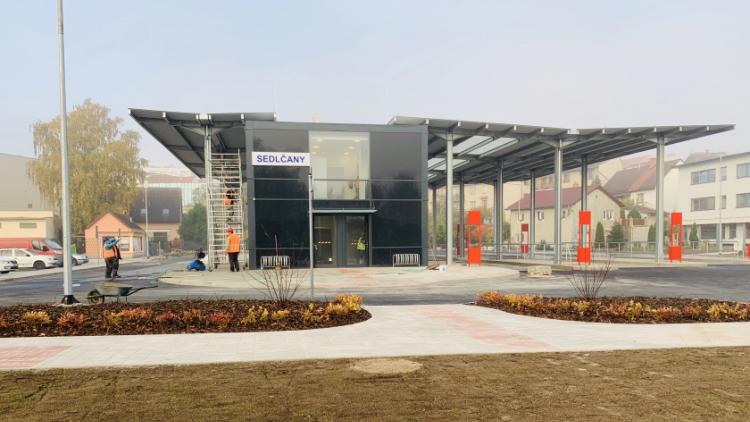 Fotogalerie: Sedlčany dokončují dopravní terminál