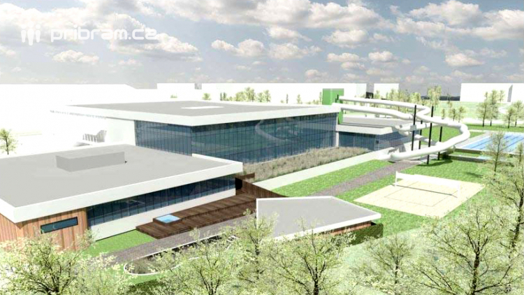 Příbram v únoru vyhlásí soutěž na rekonstrukci akvaparku