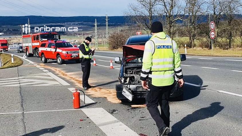 Provoz na Evropské omezila nehoda
