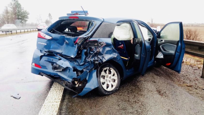 Dopravní nehoda uzavřela dálnici D4 u Skalky