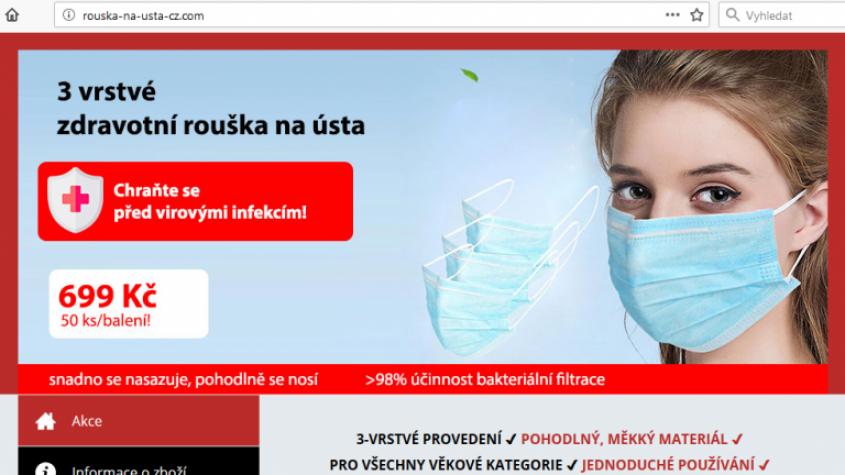 Pozor na falešné e-shopy, které zneužívají strach lidí z koronaviru
