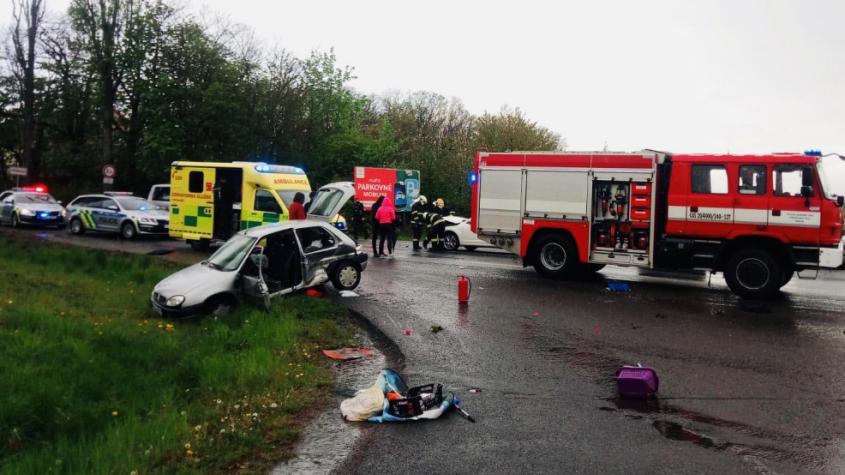 Dopravní nehoda se zraněním zkomplikovala provoz na výjezdu z Příbrami