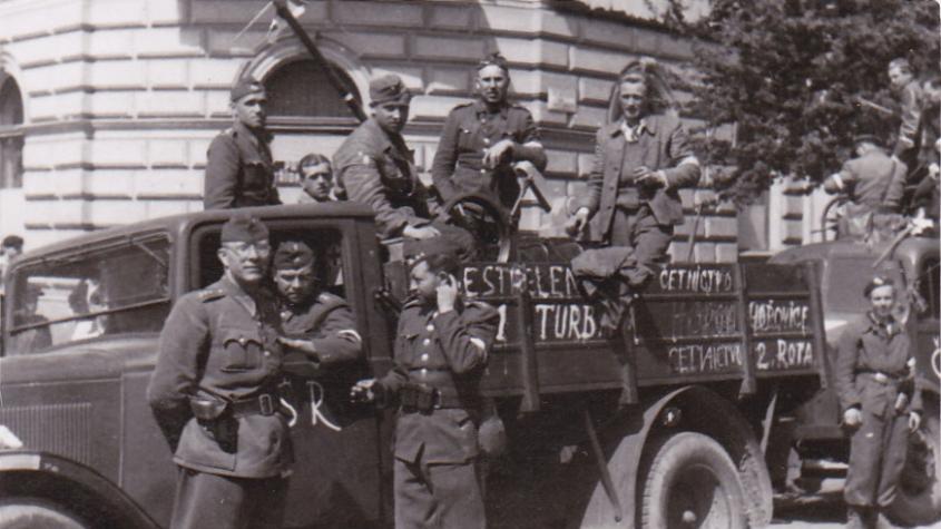 Do osvobozovacích bojů se v roce 1945 zapojila i četnická rota z Hořovic