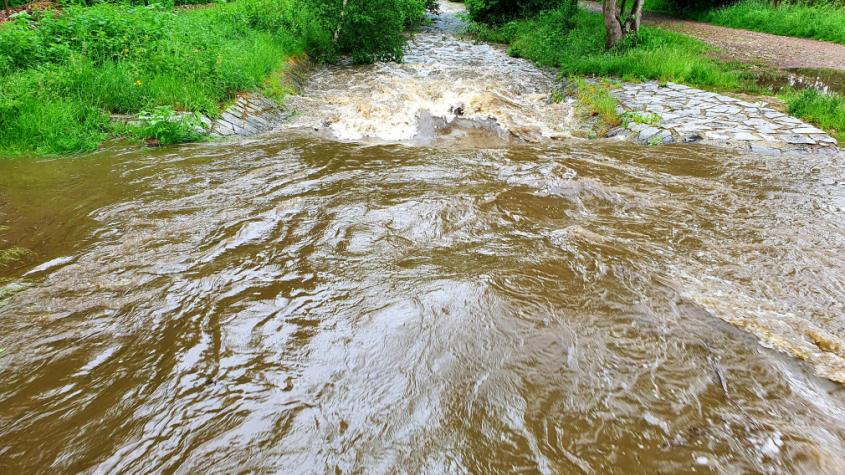 Na Příbramsku během neděle napršelo nejvíc v Březnici. Na metr čtvereční spadlo 48 litrů vody