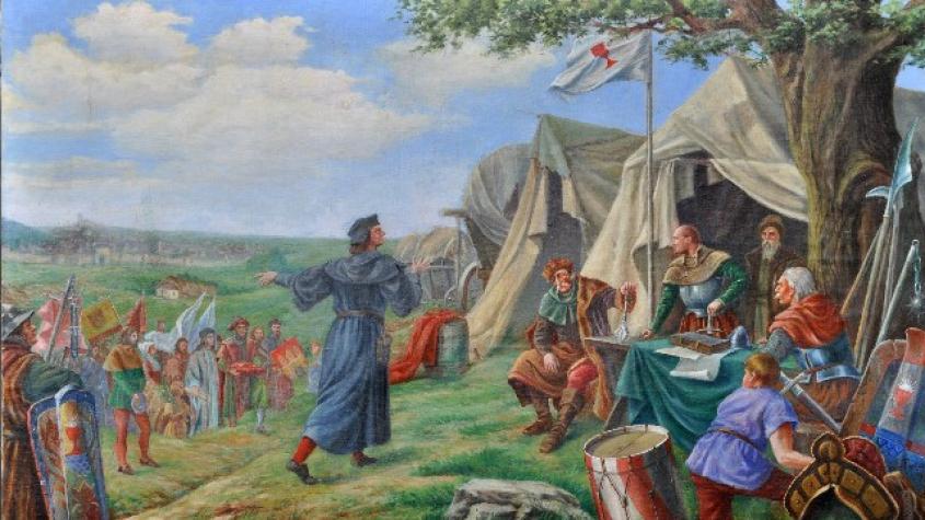 První střet husitských bitev se udál u Živohoště na Příbramsku, bitvy trvaly 15 let