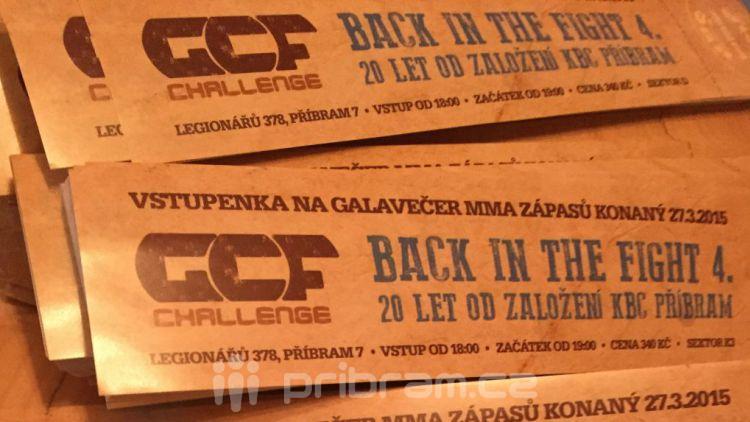 Vstupenky na Back in the Fight 4 jsou k dostání i v Příbrami
