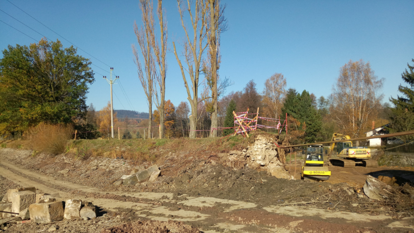 Vysokopecký rybník se rekonstruuje. Důvodem je vyšší zabezpečení hráze
