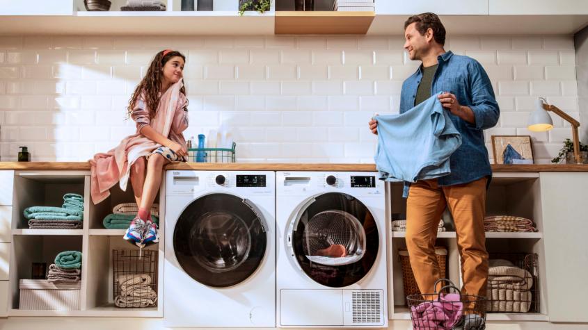 Parní pračka je šetrná k prádlu i k vám