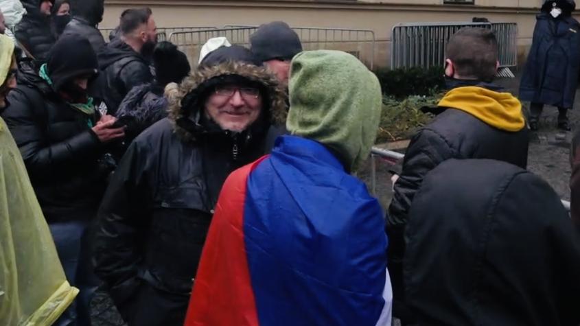 Byla nám strašná zima, ale v demonstracích budeme určitě pokračovat, řekl Janeček