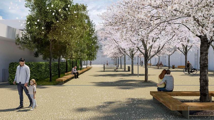 Dobříš opraví náměstí Komenského, vznikne zde místo pro trhy a koncerty