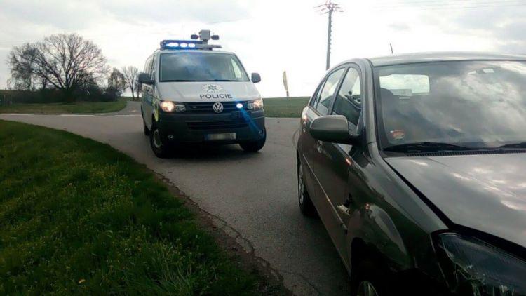 U Sedlčan se srazily dva vozy