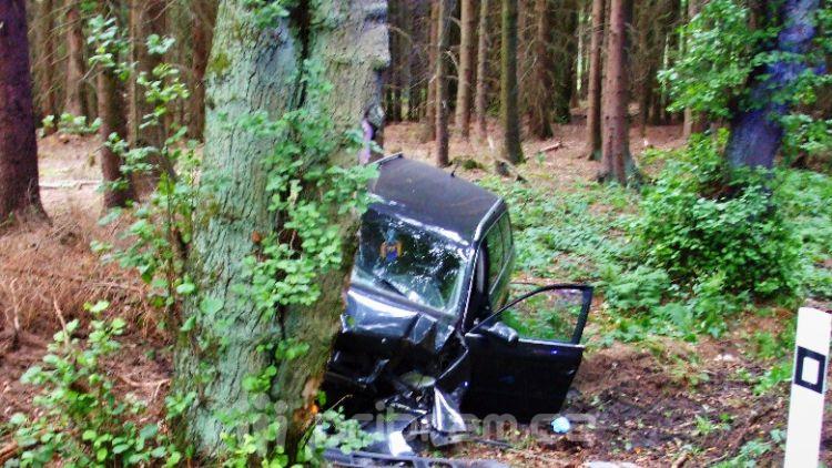 Hasiči z Rožmitálu zasahovali u dopravní nehody v Plzeňském kraji