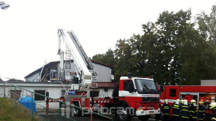 Požár bývalé sokolovny v Milínězpůsobil škodu asi 3,5 mil. Kč