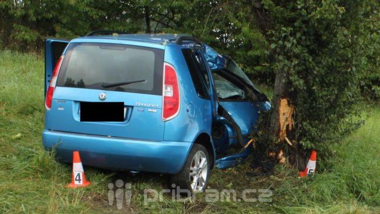 Ráno zemřela u Třebska dvacetiletá spolujezdkyně