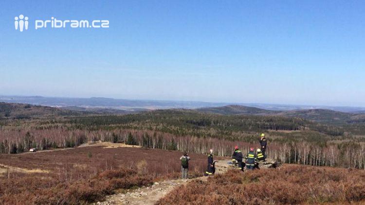 Požár v Brdech začal na třech místech