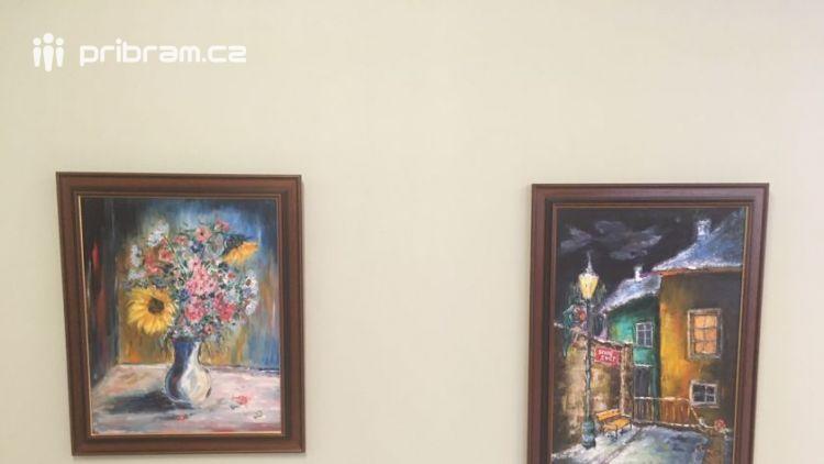 V galerii příbramské nemocnice vystavuje špičkový chirurg Prof. Dvořák