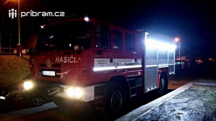 Před půlnocí na Štěpána vyjeli příbramští hasiči