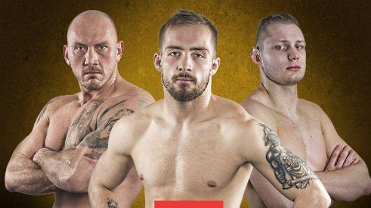 Trénink a vážení bojovníků před galavečerem bojových sportů MMA v OC Skalka