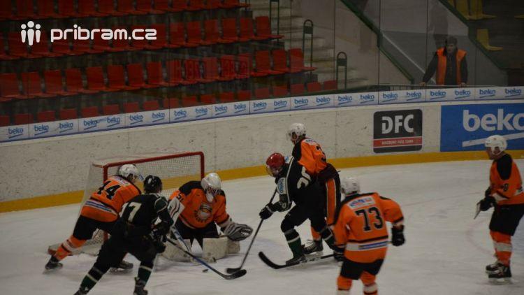 HC Příbram – HK Králův Dvůr. Poslední utkání příbramského  A–týmu mužů v letošní sezóně dopadlo na výbornou