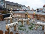 Březové stádo oveček s pasáčkem potkáte na náměstí T. G. Masaryka